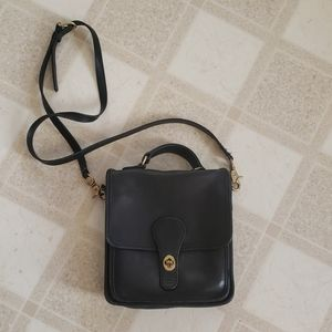 Vintage 90s Black Coach Crossbody Purse